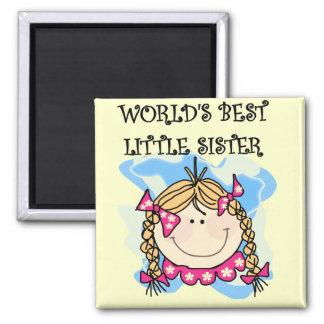 Blond World s Best Little Sister Tshirts Magnet