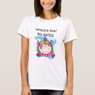 Blond World's Best Big Sister Tshirts and Gifts