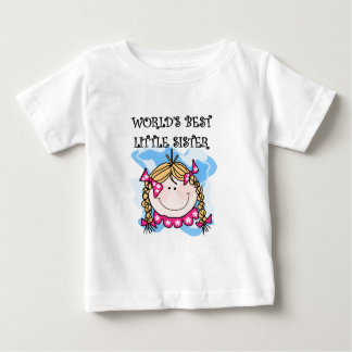 Blond World's Best Little Sister Tshirts