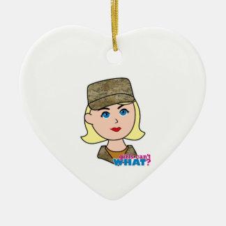Blonde Air Force Camo Head Ornament