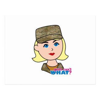 Blonde Air Force Camo Head Post Cards