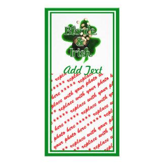Blonde And Irish Personalized Photo Card
