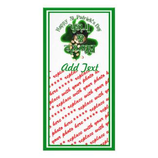 Blonde And Irish Photo Card Template