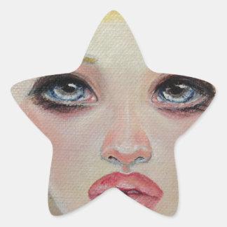 Blonde angel star sticker