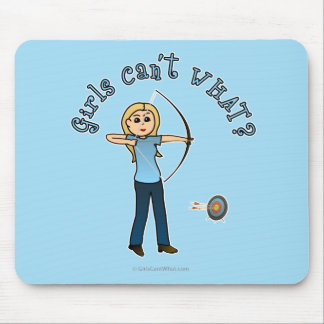 Blonde Archery in Blue Mousepad