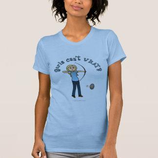 Blonde Archery in Blue T-Shirt
