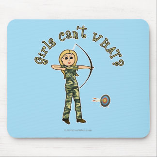Blonde Archery in Camouflage Mouse Pad