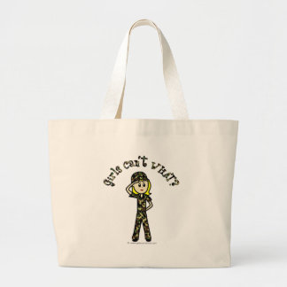 Blonde Army Woman Jumbo Tote Bag