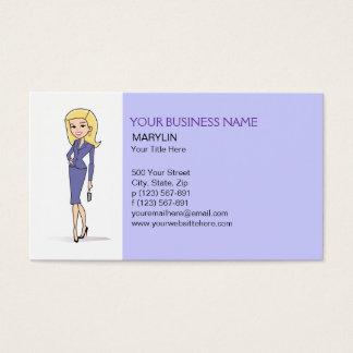 Blonde Avatar Business Card