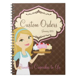 Blonde Baker Cupcake D12 Notebook 3