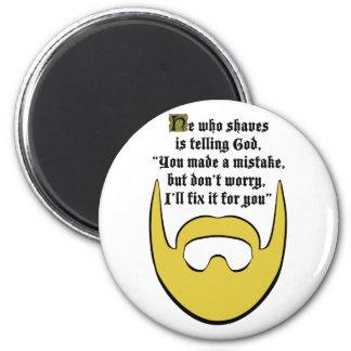 blonde beard fridge magnet