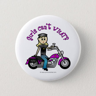 Blonde Biker 6 Cm Round Badge