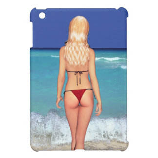Blonde Bikini Beach Babe 2 iPad Mini Cover