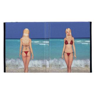 Blonde Bikini Beach Babe iPad Case