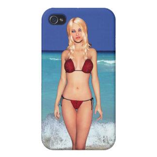 Blonde Bikini Beach Babe Covers For iPhone 4