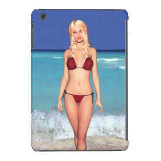 Blonde Bikini Beach Babe iPad Mini Covers