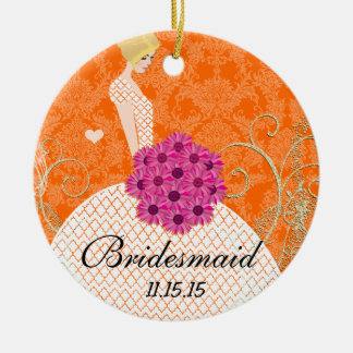 Blonde Birdesmaid  Gifts You Choose Colors Christmas Ornament
