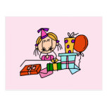 Blonde Birthday Girl With Gifts T-shirts and Gifts
