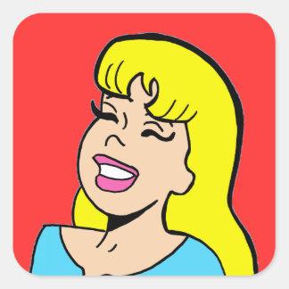 Blonde Bombshell Comic Strip Stickers