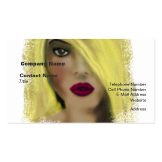 Blonde Bombshell Woman Borrow A Kiss Pack Of Standard Business Cards