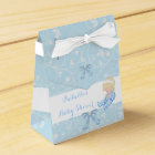 Blonde Boy Baby Shower Blue Cute Baby Favour Favour Box
