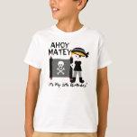Blonde Boy Party Like a Pirate Custom Tshirt