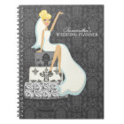 Blonde Bride on Wedding Cake Notebook