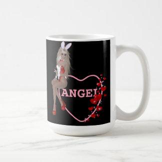 Blonde Bunny Angel Design Basic White Mug