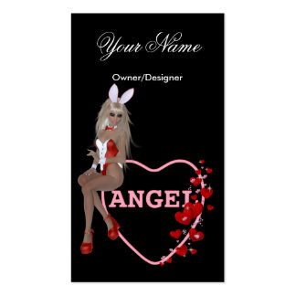 Blonde Bunny Angel - Sexy Business Cards