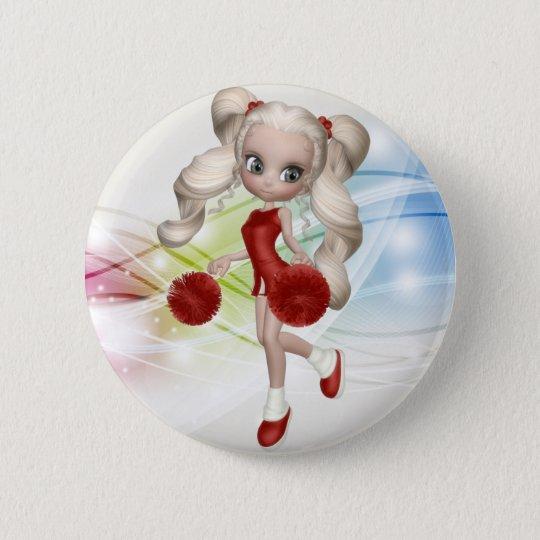 Blonde Cheerleader Button