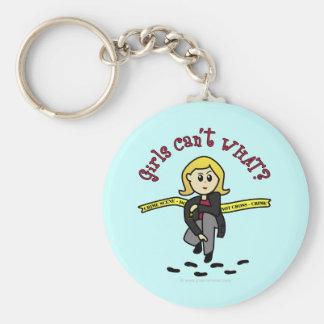 Blonde CSI Girl Key Chains