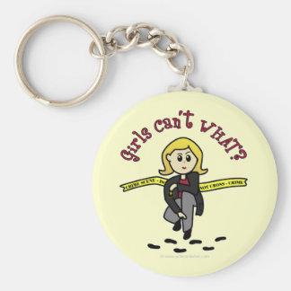 Blonde CSI Girl Keychain
