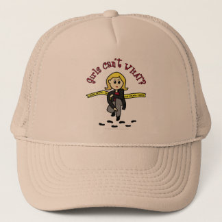Blonde CSI Girl Trucker Hat