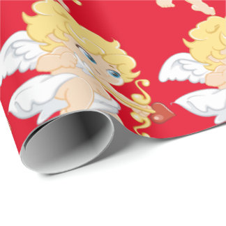 Blonde Cupid Wrapping Paper