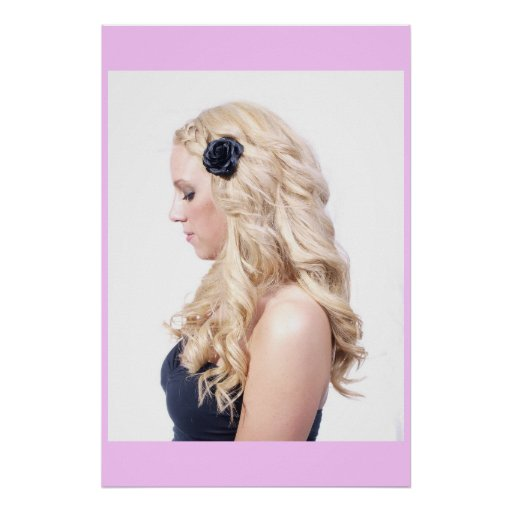 Blonde Curls Poster
