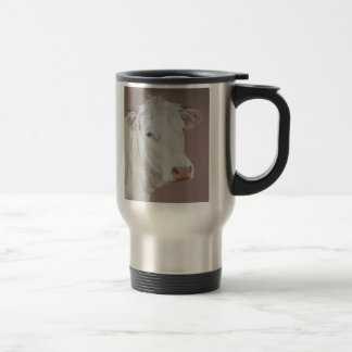 Blonde D'Aquitaine Cow Travel Mug
