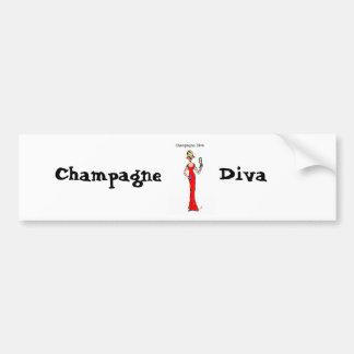 BLONDE DIVA Champagne Diva Bumper Sticker