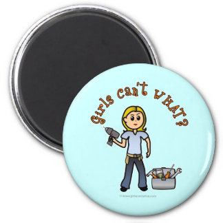 Blonde Do-It-Yourself Diva 6 Cm Round Magnet