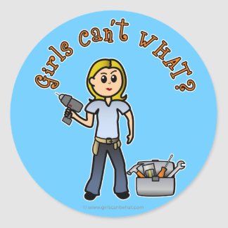 Blonde Do-It-Yourself Diva Classic Round Sticker