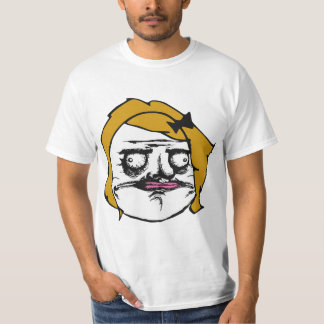 Blonde Female Me Gusta Comic Rage Face Meme T-Shirt