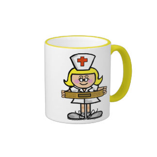 Blonde Female Nurse Mug Customize It