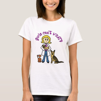 Blonde Female Veterinarian T-Shirt