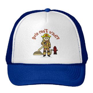 Blonde Firefighter Girl Hats