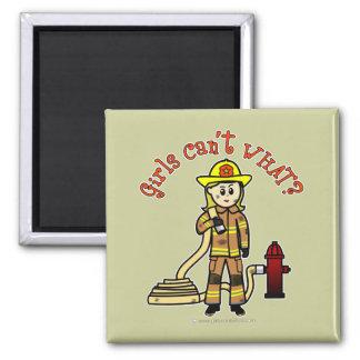 Blonde Firefighter Girl Magnet