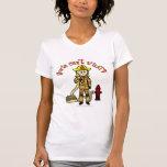 Blonde Firefighter Girl T Shirt