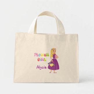 Blonde Flower Girl Mini Tote Bag
