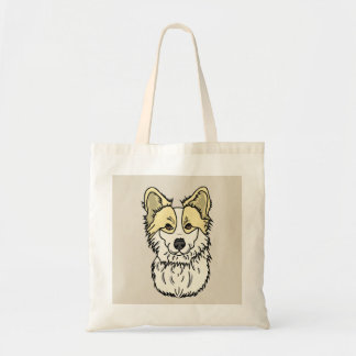 Blonde Fluffy Corgi! Tote Bag