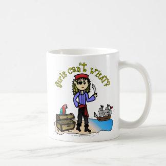 Blonde Girl Pirate Basic White Mug