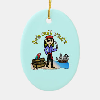 Blonde Girl Pirate Christmas Ornament