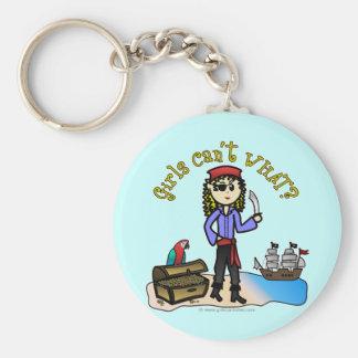 Blonde Girl Pirate Keychains